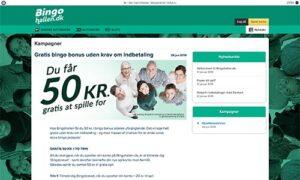 Hos Bingohallen.dk får du en velkomstbonus på 50 kr. uden krav om indskud