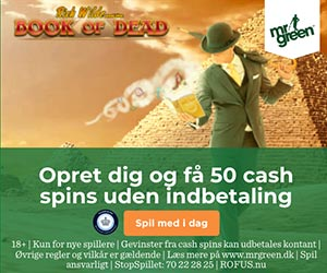 Få 50 cash spins ved oprettelse hos Mr Green Casino