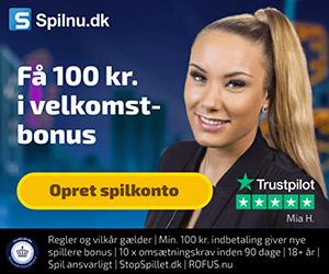 Få 100 kr. ved oprettelse hos Spilnu og spil bingo eller casino